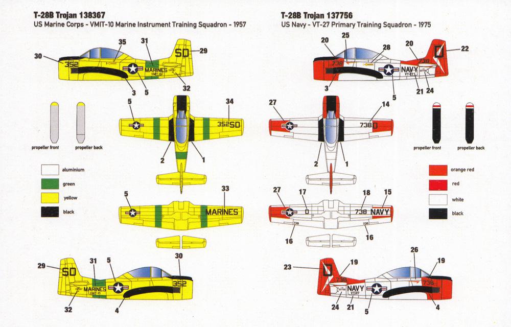 ノースアメリカン T-28B トロージャン 米海軍 & 海兵隊 2in1プラモデル(ミニウイング1/144 インジェクションキットNo.mini346)商品画像_1