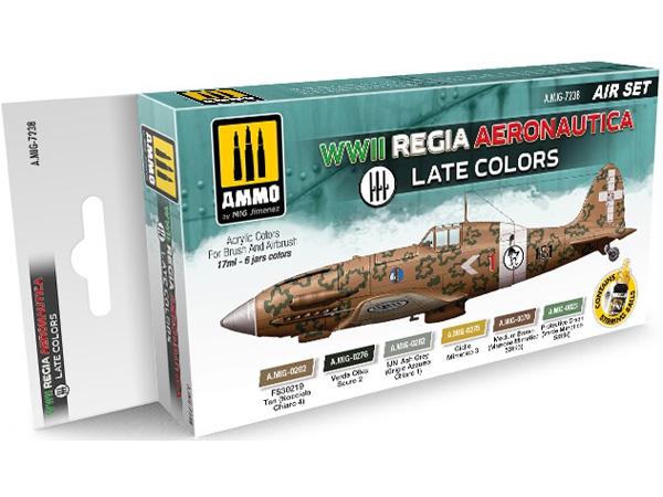 WW2 イタリア空軍 後期 カラーセット塗料(アモAIR SET (Acrylic Color)No.A.MIG-7238)商品画像