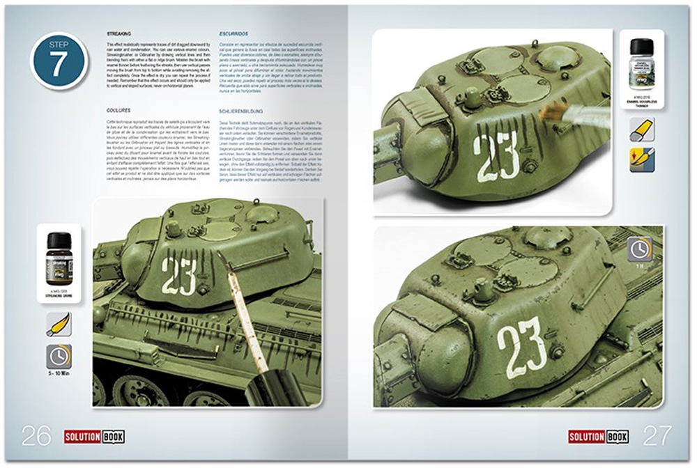 HOW TO PAINT 4BO GREEN VEHICLES本(アモSolution Book (ソリューション ブック)No.A.MIG-6600)商品画像_4