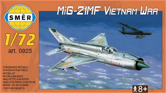 MiG-21MF ベトナム戦争プラモデル(スメール1/72 エアクラフト プラモデルNo.0925)商品画像