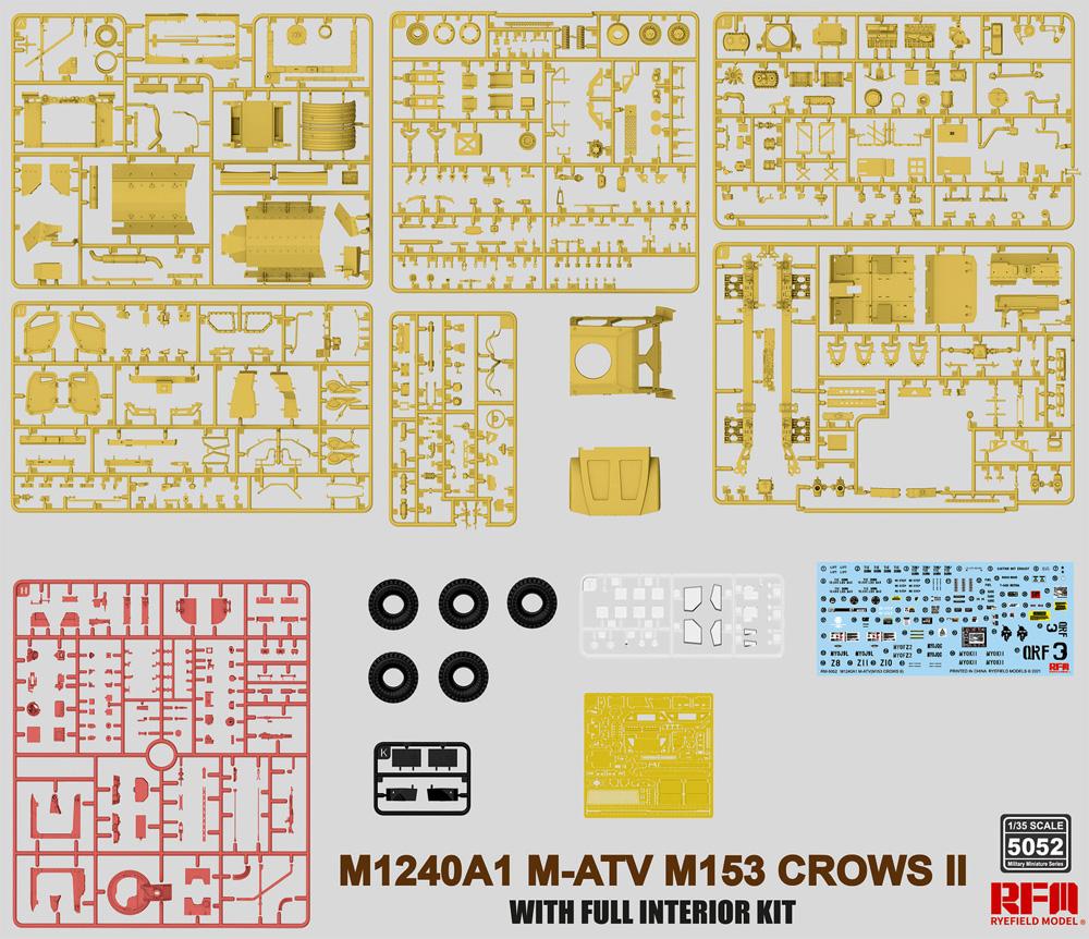 M1240A1 M-ATV w/M153 CROWS 2 & フルインテリアプラモデル(ライ フィールド モデル1/35 Military Miniature SeriesNo.5052)商品画像_1