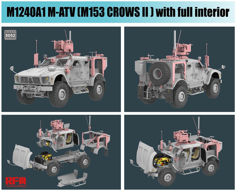 M1240A1 M-ATV w/M153 CROWS 2 & フルインテリアプラモデル(ライ フィールド モデル1/35 Military Miniature SeriesNo.5052)商品画像_2