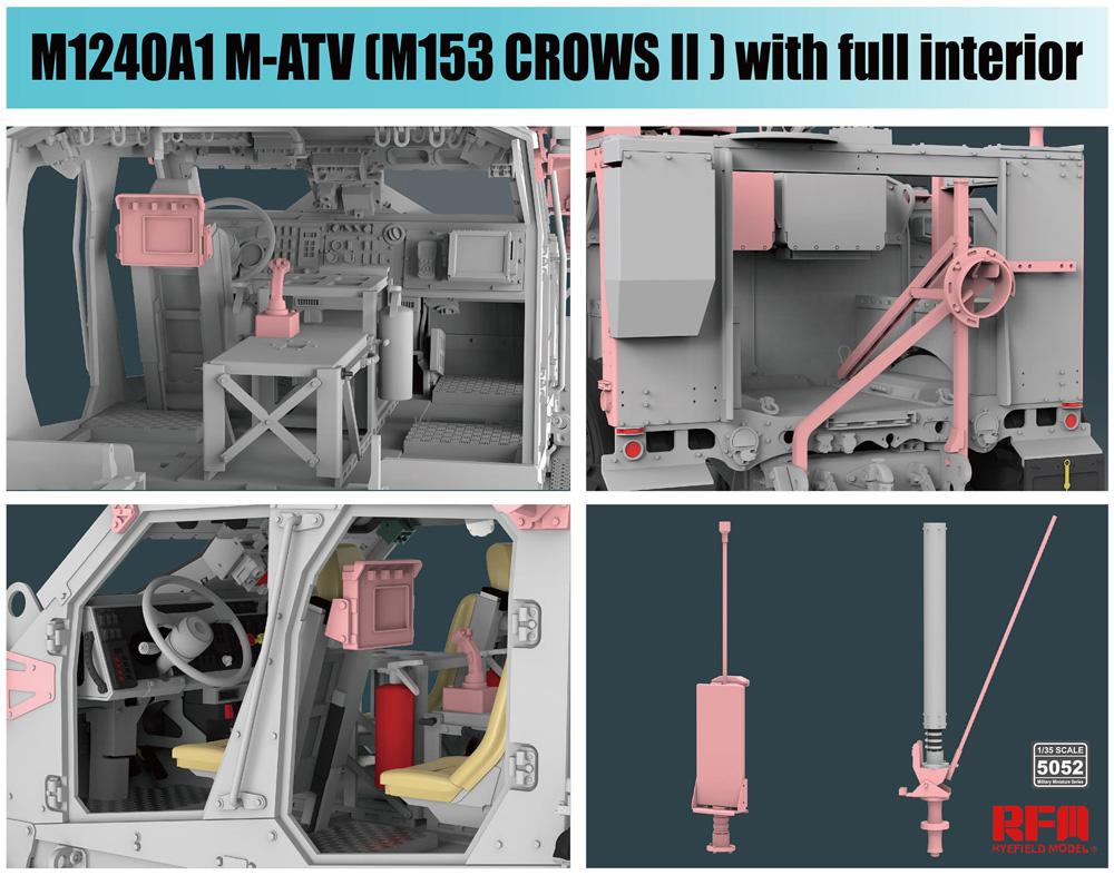 M1240A1 M-ATV w/M153 CROWS 2 & フルインテリアプラモデル(ライ フィールド モデル1/35 Military Miniature SeriesNo.5052)商品画像_3