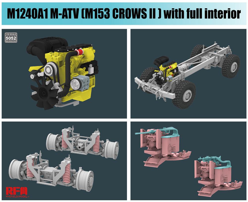 M1240A1 M-ATV w/M153 CROWS 2 & フルインテリアプラモデル(ライ フィールド モデル1/35 Military Miniature SeriesNo.5052)商品画像_4