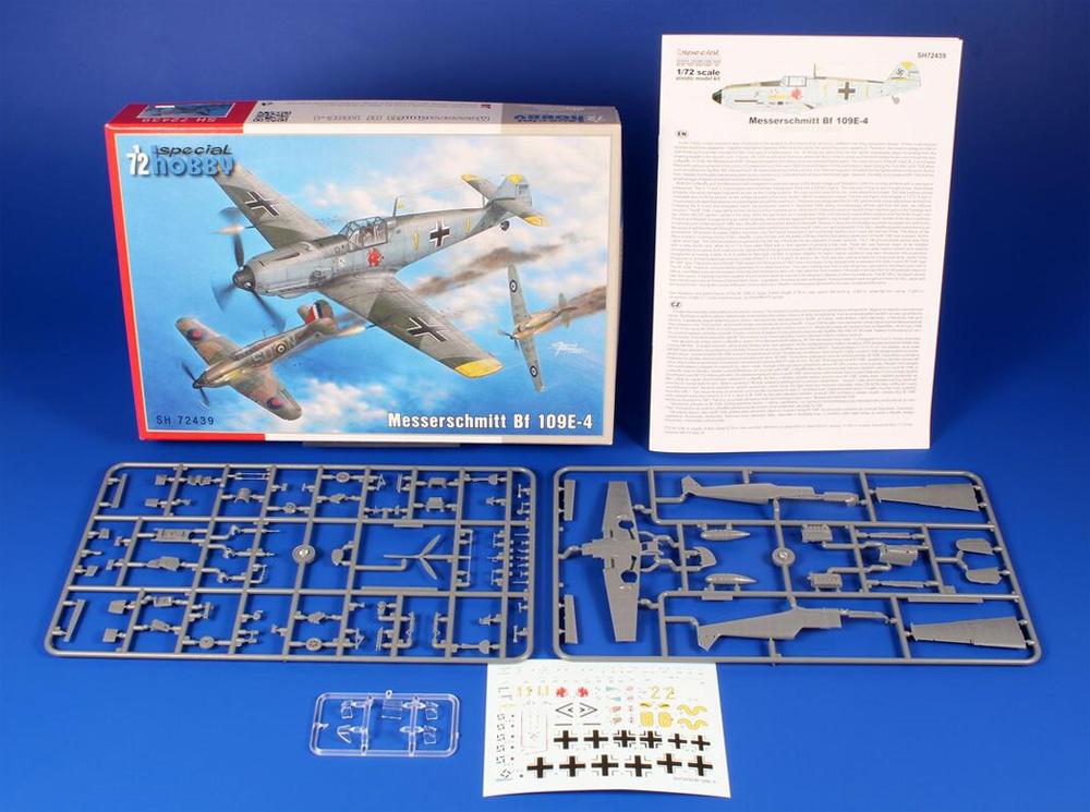 メッサーシュミット Bf109E-4プラモデル(スペシャルホビー1/72 エアクラフト プラモデルNo.SH72439)商品画像_1