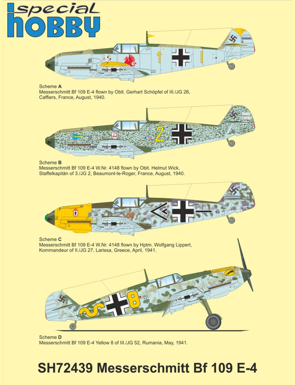 メッサーシュミット Bf109E-4プラモデル(スペシャルホビー1/72 エアクラフト プラモデルNo.SH72439)商品画像_3
