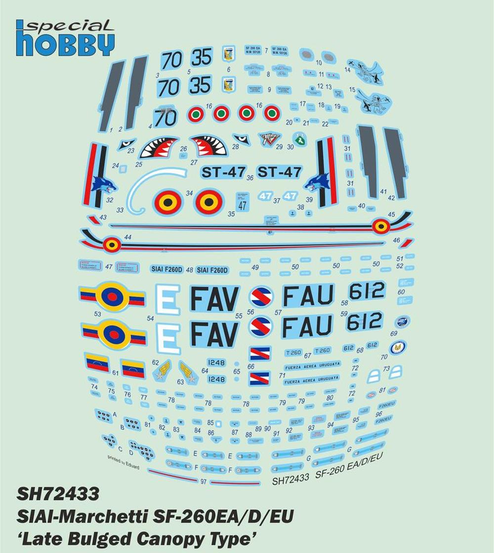 SIAI-マルケッティ SF-260EA/D/EU 後期型 バブルキャノピータイププラモデル(スペシャルホビー1/72 エアクラフト プラモデルNo.SH72433)商品画像_2