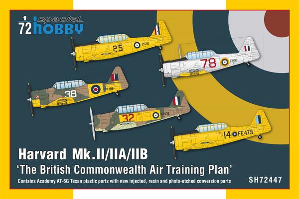 ハーヴァード Mk.2/2A/2B イギリス連邦 練習機プラモデル(スペシャルホビー1/72 エアクラフト プラモデルNo.SH72447)商品画像