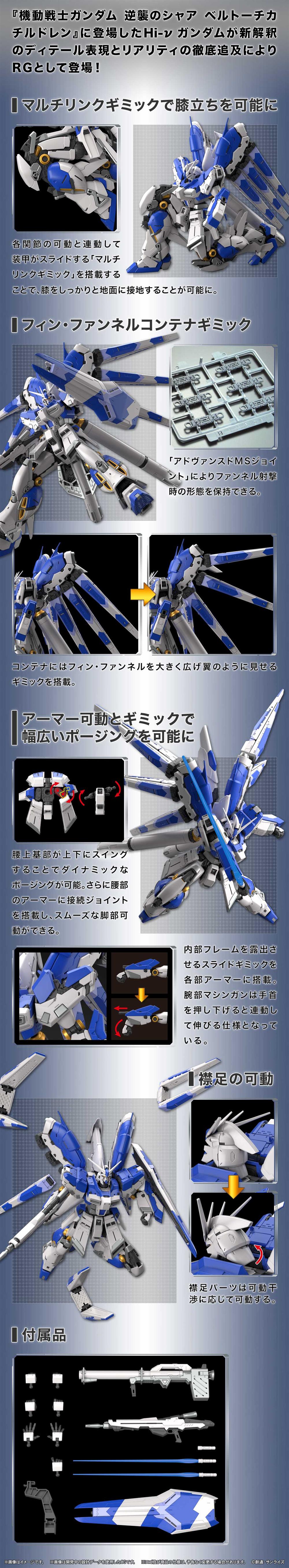 RX-98-ν2 Hi-ν ガンダムプラモデル(バンダイRG (リアルグレード)No.036)商品画像_4