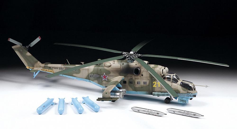 MIL Mi-24P ハインド ソビエト 攻撃ヘリコプタープラモデル(ズベズダ1/48 ミリタリーエアクラフト プラモデルNo.4812)商品画像_1