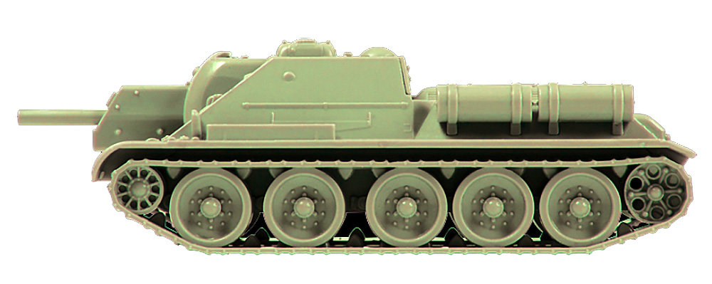 ソビエト 自走砲 SU-122プラモデル(ズベズダART OF TACTICNo.6281)商品画像_4