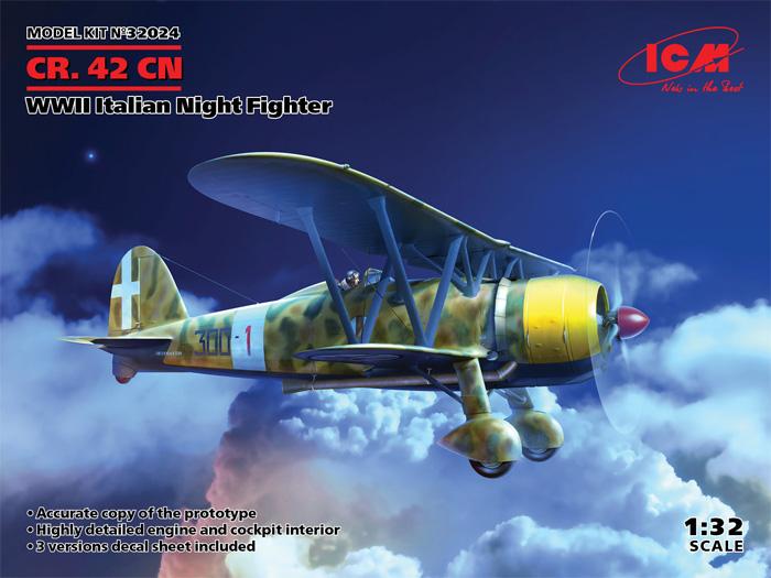 フィアット CR.42CN WW2 イタリア 夜間戦闘機プラモデル(ICM1/32 エアクラフトNo.32024)商品画像
