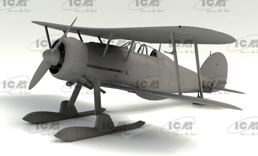 J-8 グラジエーター WW2 スウェーデン 戦闘機プラモデル(ICM1/32 エアクラフトNo.32044)商品画像_2