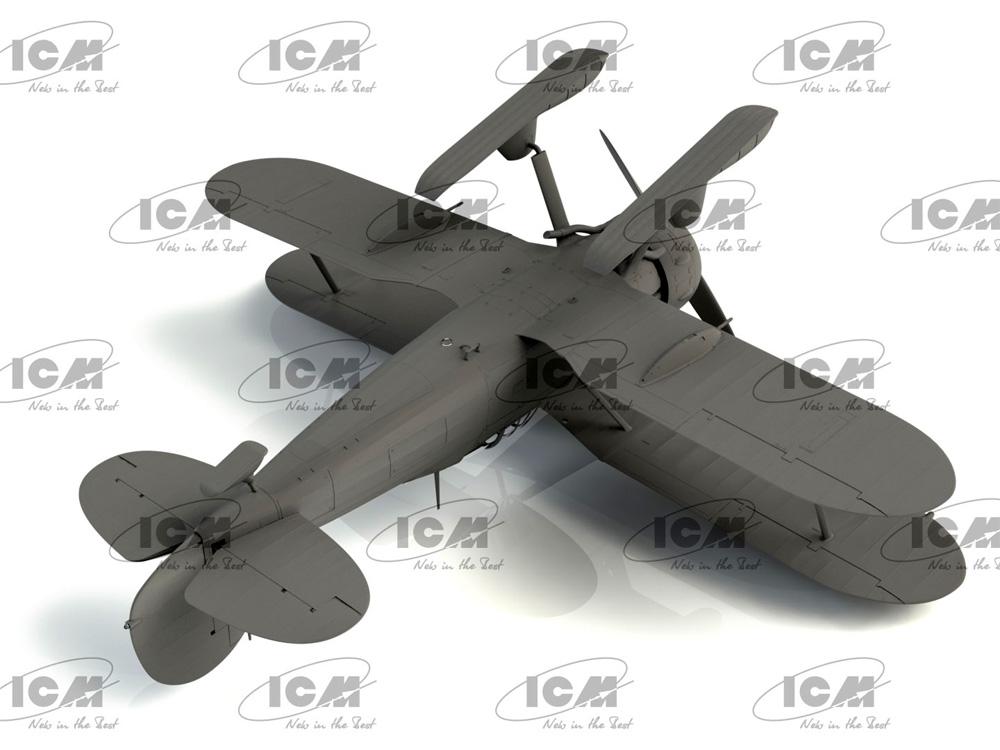 J-8 グラジエーター WW2 スウェーデン 戦闘機プラモデル(ICM1/32 エアクラフトNo.32044)商品画像_4
