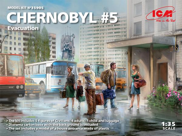 チェルノブイリ #5 避難住民セットプラモデル(ICMチェルノブイリNo.35905)商品画像