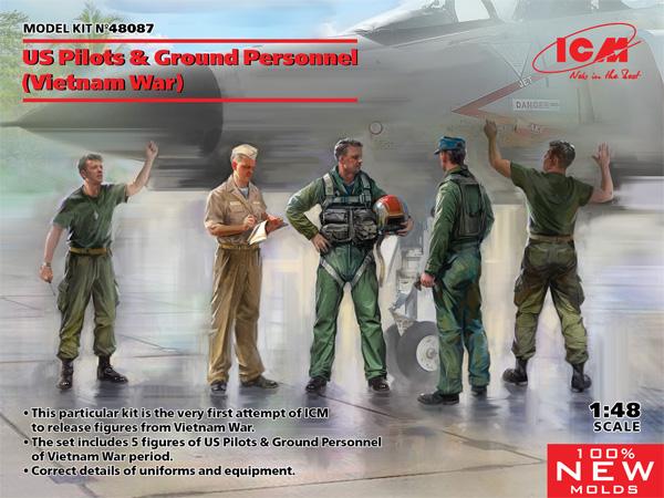 US パイロット & グランドクルーセット (ベトナム戦争)プラモデル(ICM1/48 エアクラフト プラモデルNo.48087)商品画像