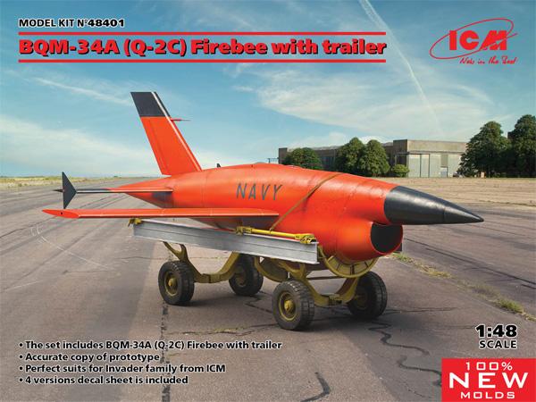 BQM-34A (Q-2C) ファイアビー w/トレーラープラモデル(ICM1/48 エアクラフト プラモデルNo.48401)商品画像