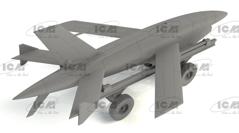 BQM-34A (Q-2C) ファイアビー w/トレーラープラモデル(ICM1/48 エアクラフト プラモデルNo.48401)商品画像_3