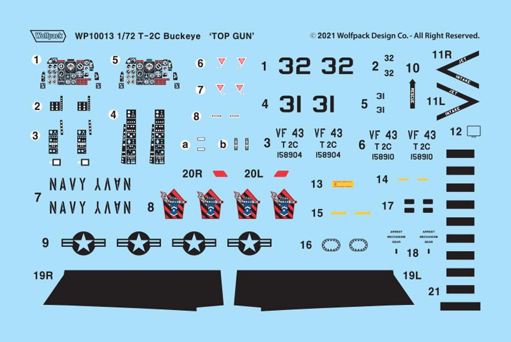 T-2C バックアイ トップガンプラモデル(ウルフパックウルフパックデザイン プレミアムエディションキットNo.WP10013)商品画像_1