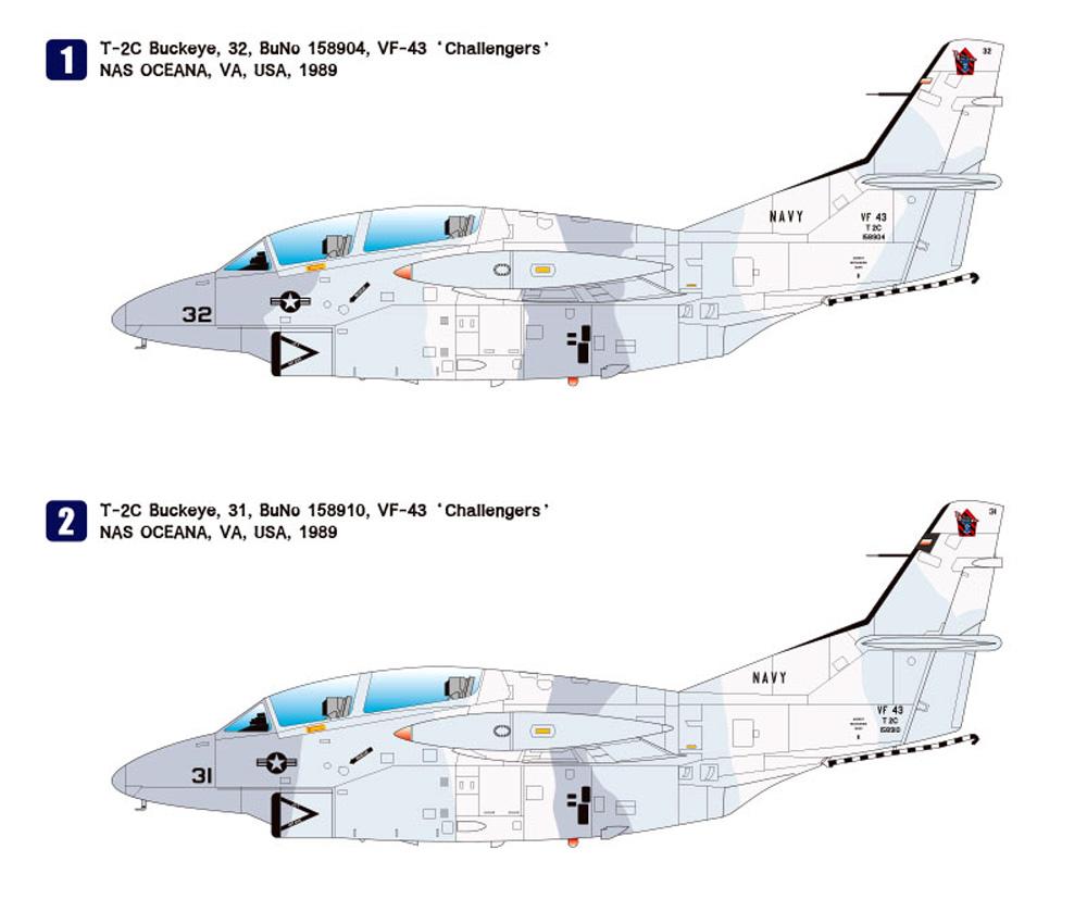 T-2C バックアイ トップガンプラモデル(ウルフパックウルフパックデザイン プレミアムエディションキットNo.WP10013)商品画像_2