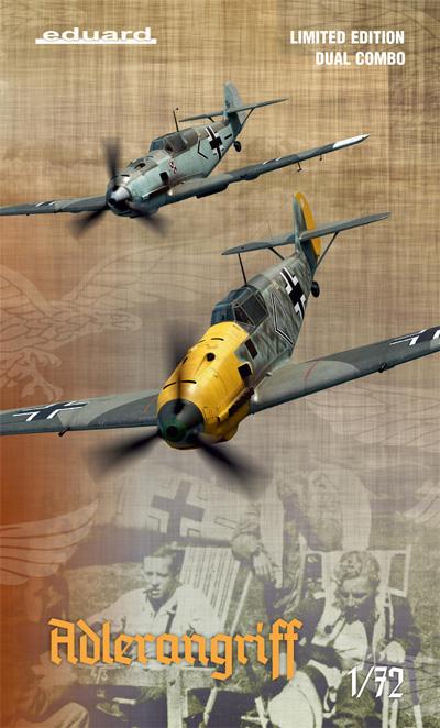 アドラーアングリフ作戦 メッサーシュミット Bf109E-1/3/4 デュアルコンボプラモデル(エデュアルド1/72 リミテッド エディションNo.2136)商品画像