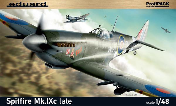 スピットファイア Mk.9c 後期型プラモデル(エデュアルド1/48 プロフィパックNo.8281)商品画像