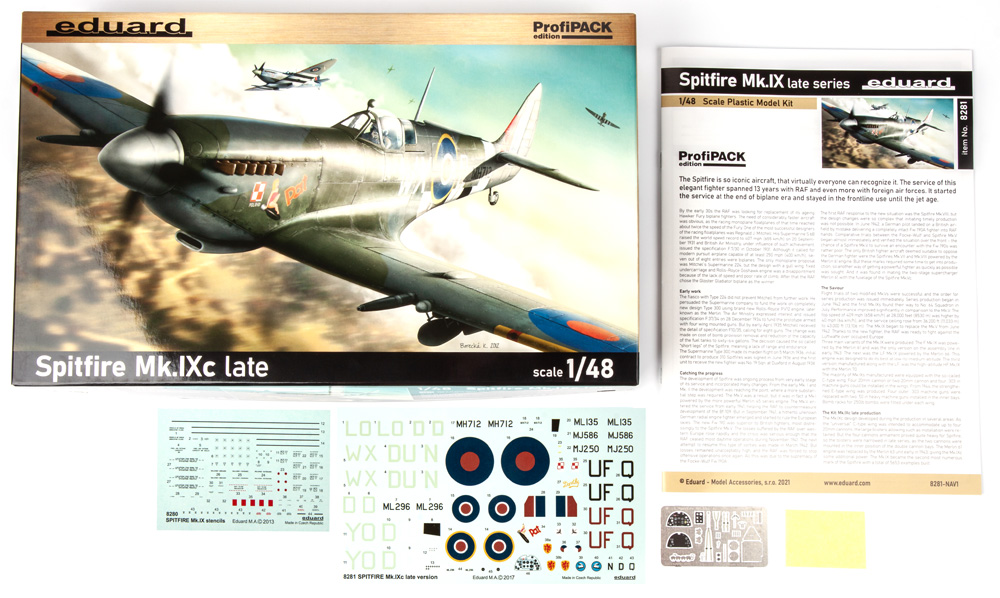 スピットファイア Mk.9c 後期型プラモデル(エデュアルド1/48 プロフィパックNo.8281)商品画像_1