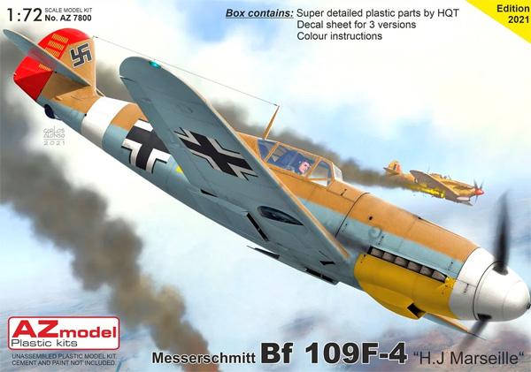 メッサーシュミット Bf109F-4 H.J.マルセイユプラモデル(AZ model1/72 エアクラフト プラモデルNo.AZ7800)商品画像