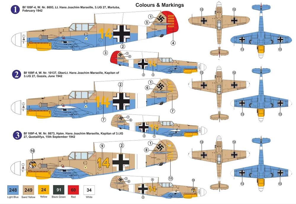 メッサーシュミット Bf109F-4 H.J.マルセイユプラモデル(AZ model1/72 エアクラフト プラモデルNo.AZ7800)商品画像_1