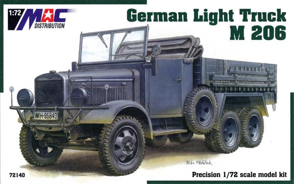 マギルス M.206 ドイツ 1.5t トラックプラモデル(MAC DISTRIBUTION1/72 AFVモデルNo.72140)商品画像