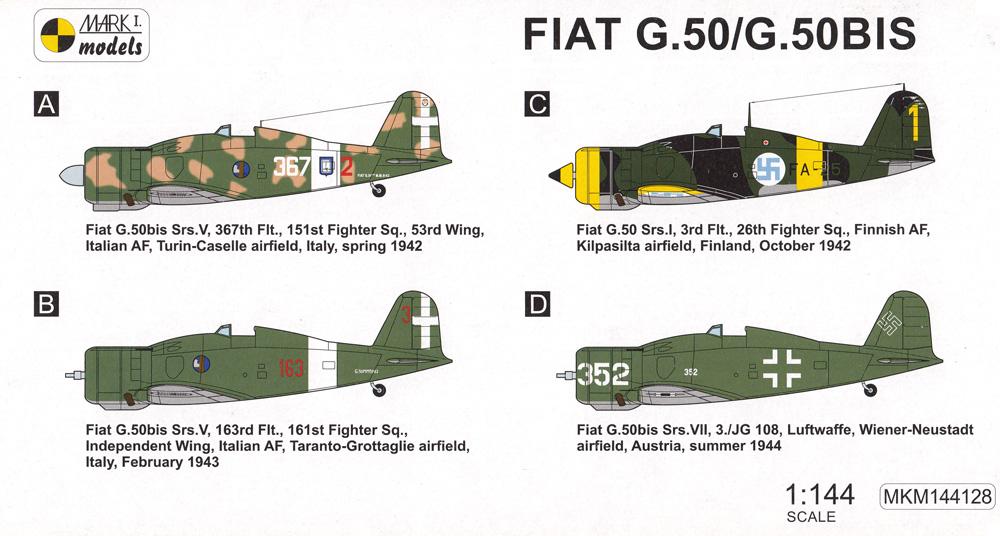 フィアット G.50/G.50bis イタリアンアロー 2in1プラモデル(MARK 1MARK 1 modelsNo.MKM144128)商品画像_1