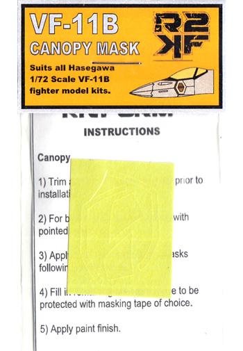 VF-11B用 キャノピーマスク (ハセガワ用)マスキング(Return 2 Kit FormAccessoriesNo.RKF72006)商品画像