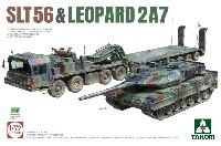 タコム1/72 ミリタリーSLT56 戦車運搬車 & レオパルト 2A7
