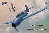 ソード1/72 エアクラフト プラモデルTBF-1 アベンジャー ミッドウェイ アンド ガダルカナル