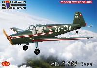 KPモデル1/72 エアクラフト プラモデルズリン Z-181 バサ 民間機