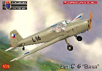 KPモデル1/72 エアクラフト プラモデルズリン C-6 バサ チェコ空軍