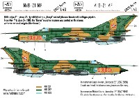 HAD MODELS1/48 デカールMiG-21MF ハンガリー空軍 #9309 デカール