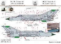 HAD MODELS1/48 デカールMiG-21MF/Bis データーステンシル デカール