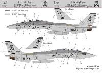 F-14A トムキャット VF-84 ジョリー ロジャース USS ニミッツ 1986 ロービジ デカール