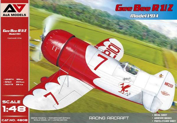 ジービー R1/2 Model 1934プラモデル(A&A MODELS1/48 プラスチックモデルNo.4808)商品画像
