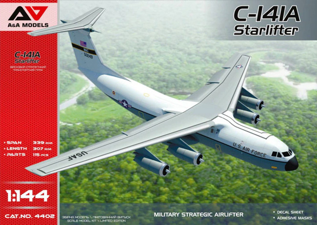 C-141A スターリフタープラモデル(A&A MODELS1/144 プラスチックモデルNo.4402)商品画像
