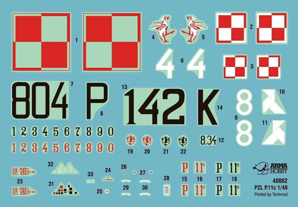 PZL P.11Cプラモデル(アルマホビー1/48 エアクラフト プラモデルNo.40002)商品画像_1