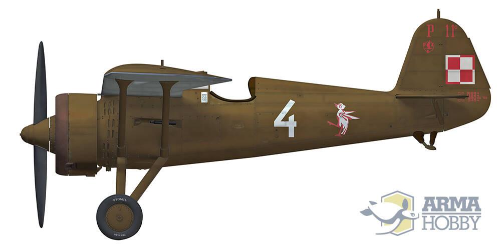 PZL P.11Cプラモデル(アルマホビー1/48 エアクラフト プラモデルNo.40002)商品画像_2