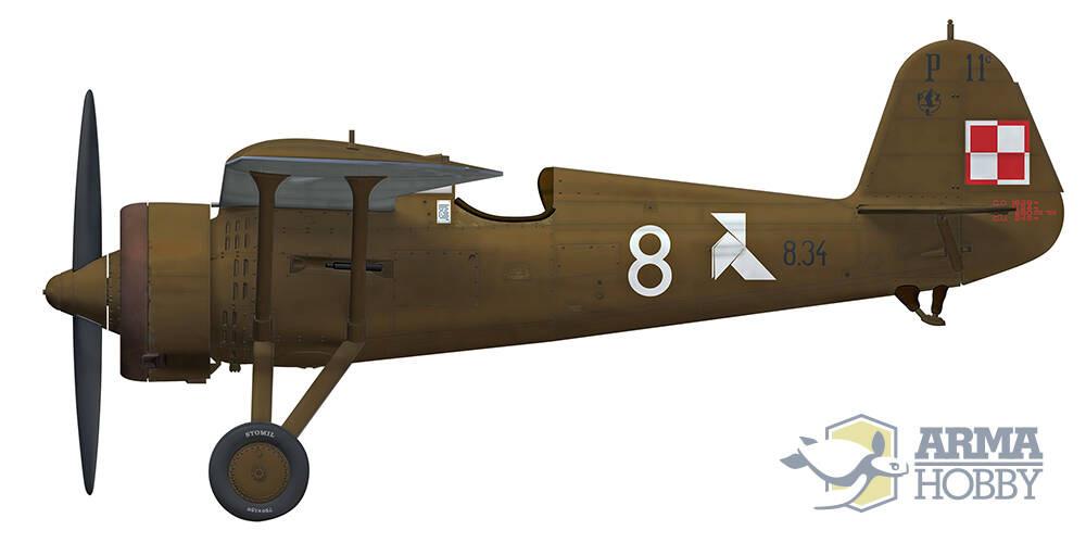 PZL P.11Cプラモデル(アルマホビー1/48 エアクラフト プラモデルNo.40002)商品画像_3
