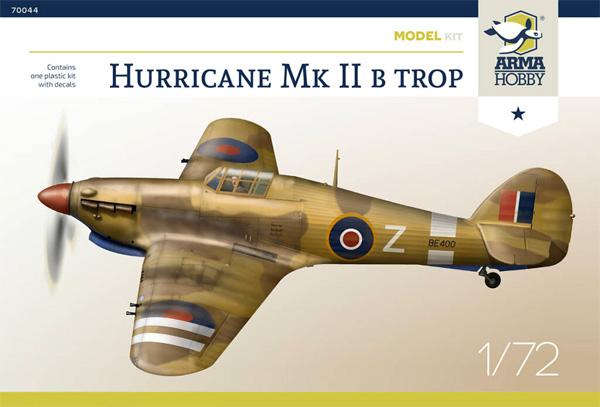 ホーカー ハリケーン Mk.2b TROPプラモデル(アルマホビー1/72 エアクラフト プラモデルNo.70044)商品画像