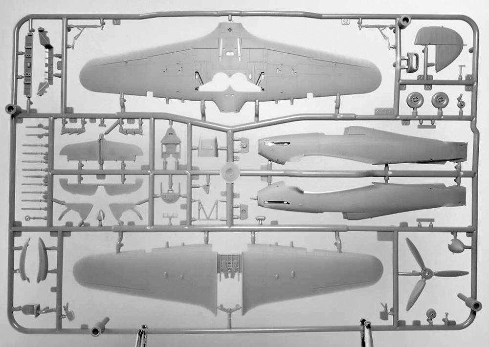 ホーカー ハリケーン Mk.2b TROPプラモデル(アルマホビー1/72 エアクラフト プラモデルNo.70044)商品画像_3