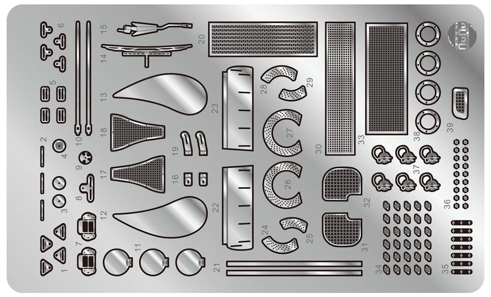 ポルシェ 935 K3/80 伊太利屋 1980 ル・マン24時間レース用 ディテールアップパーツエッチング(NuNuディテールアップパーツシリーズNo.NE24029)商品画像_1