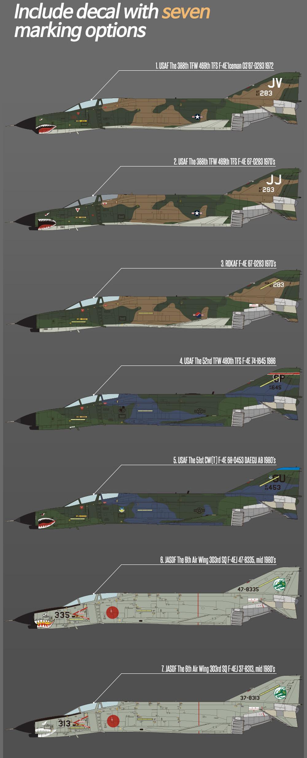 F-4E ファントム 2 ベトナム戦争プラモデル(アカデミー1/32 Scale AircraftNo.12133)商品画像_2