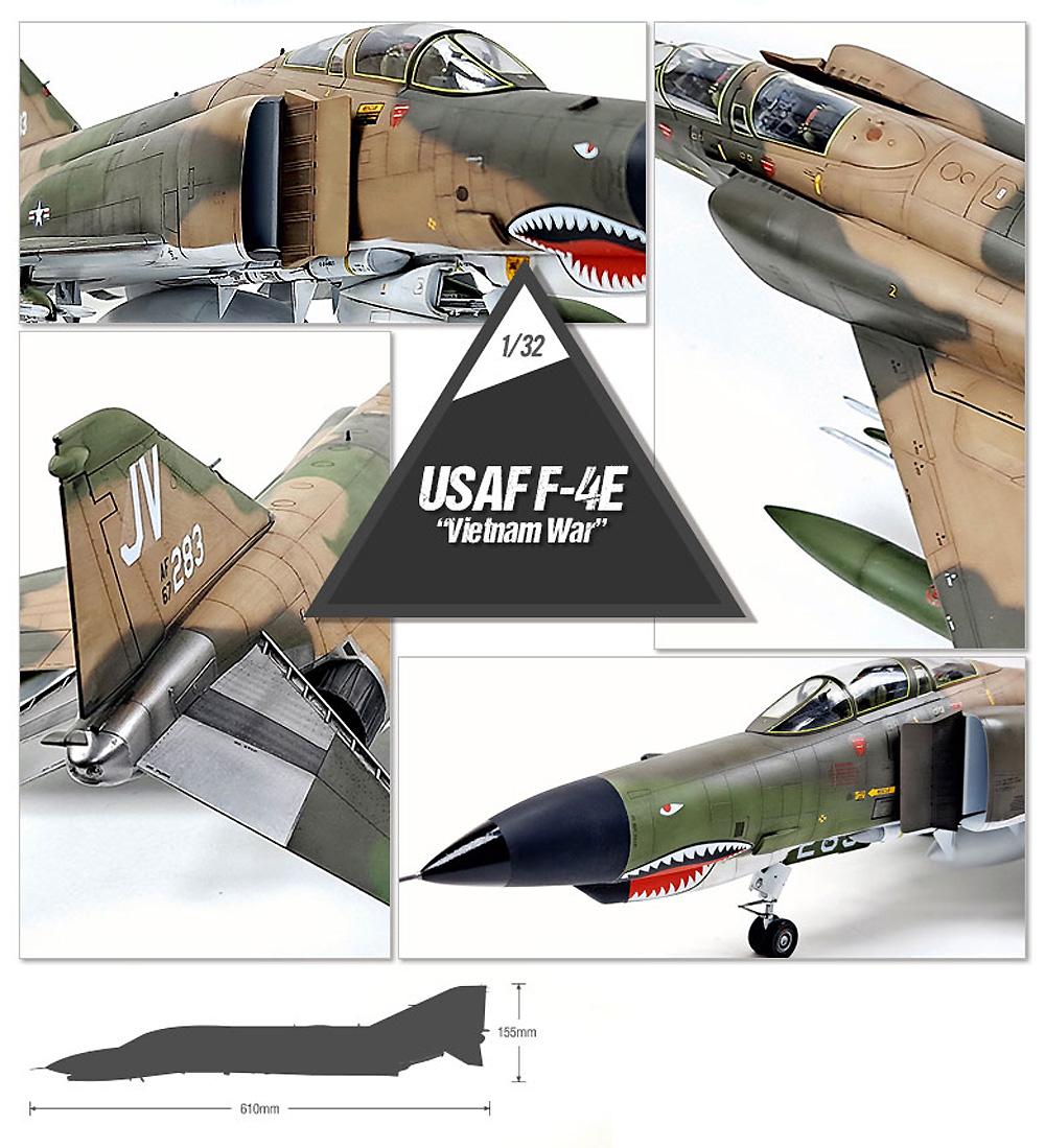 F-4E ファントム 2 ベトナム戦争プラモデル(アカデミー1/32 Scale AircraftNo.12133)商品画像_4