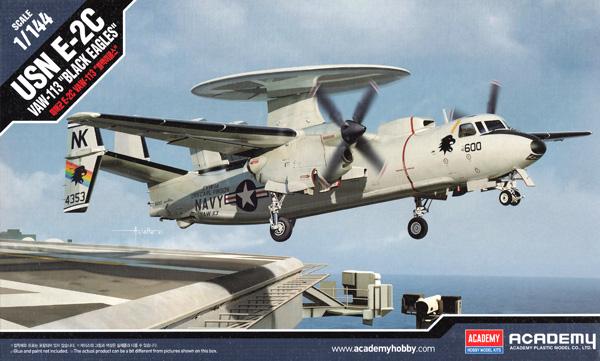 USN E-2C ホークアイ VAW-113 ブラックイーグルスプラモデル(アカデミー1/144 Scale AircraftsNo.12623)商品画像